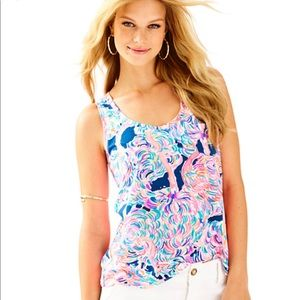 Lilly Pulitzer Crayton Head in the Sand Tank Top